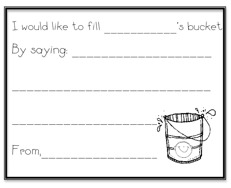 27857 on How Full Is Your Bucket Worksheet