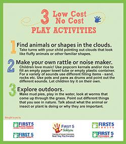 click on image to get 3 low cost or not cost activities