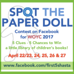 rules for Spot the Paper Doll contest on Facebook