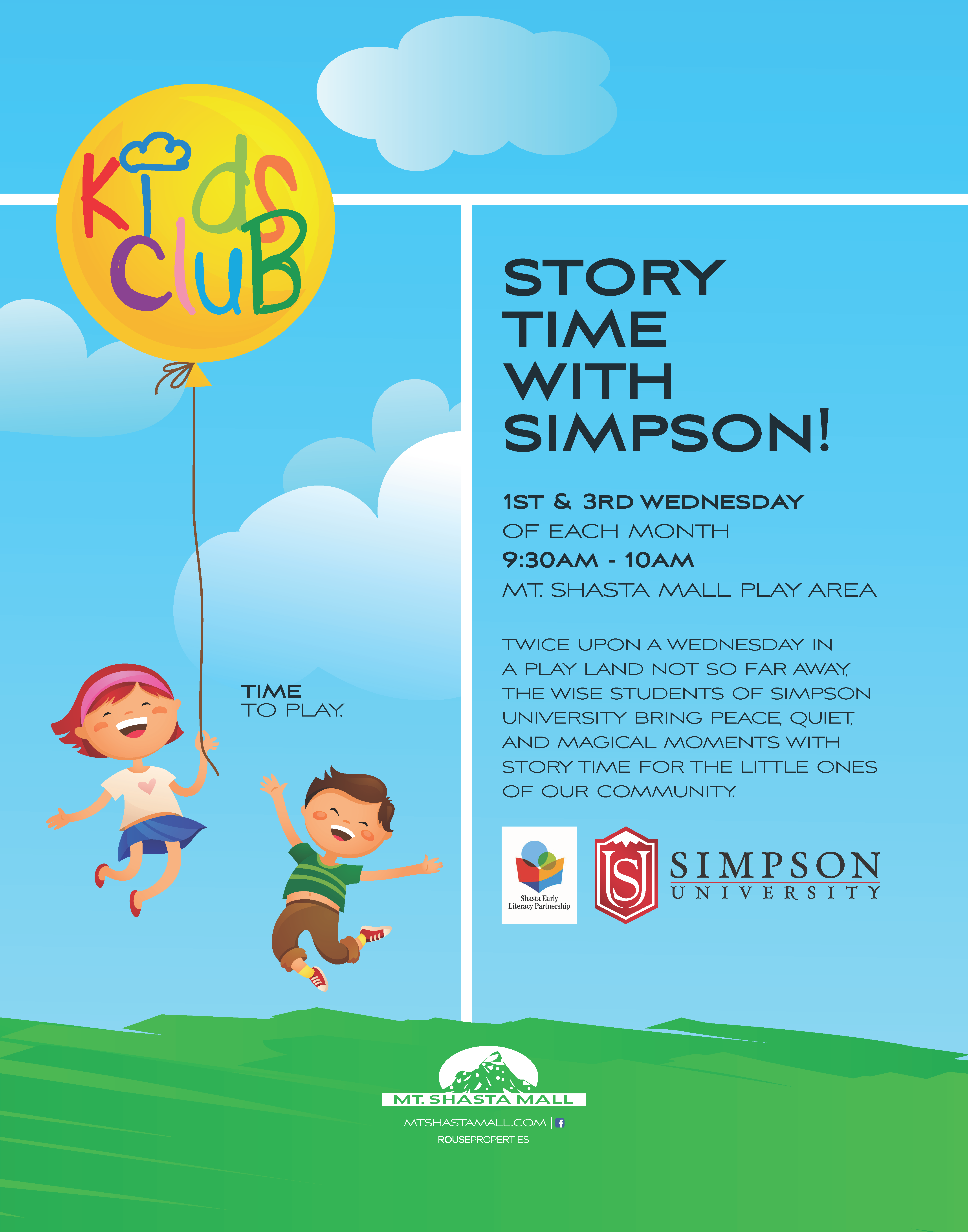 Kids Club-Story Time With Simpson-Flyer With Logos - First -2404